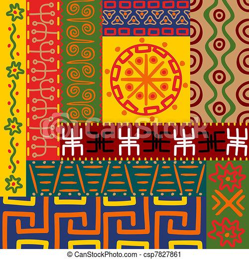 Patrones étnicos y adornos - csp7827861