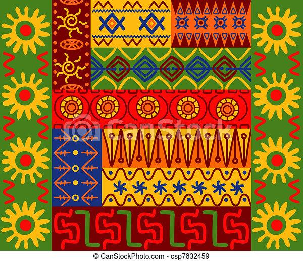 Patrones étnicos y adornos - csp7832459
