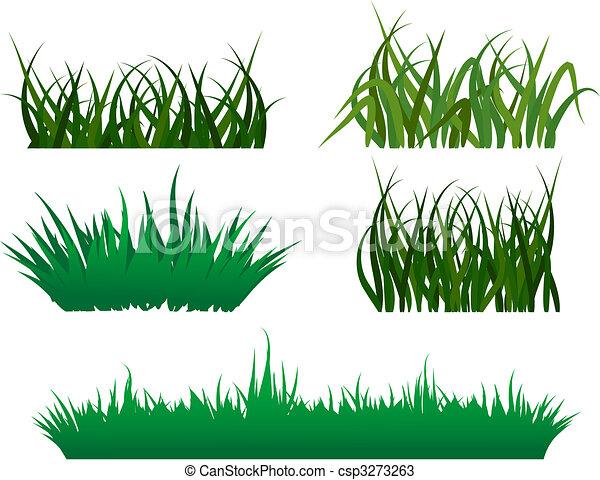 Patrones de hierba verde - csp3273263