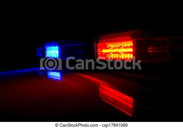 patrouille, nuit - csp17841069
