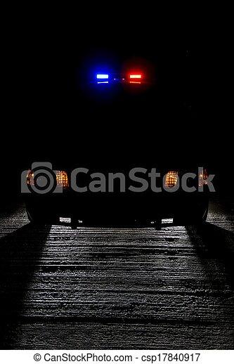 patrouille, nuit - csp17840917