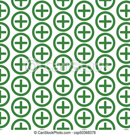 Pattern background Additional plus Icon - csp50368376