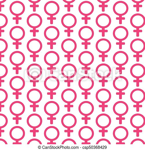 Pattern background female sign icon - csp50368429