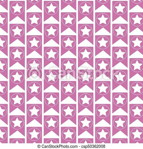 Pattern background Web Bookmark Ribbon Icon - csp50362008