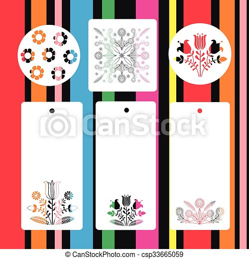pattern folk - csp33665059