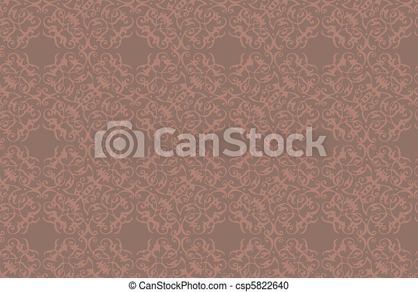 Pattern Gothic Seamless Green Wallpaper Vector Clipart