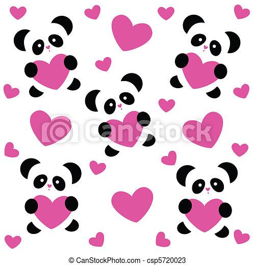 Heart Panda Craft