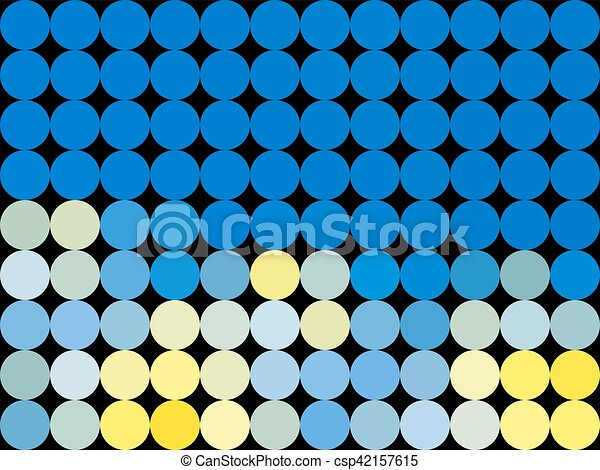 Pattern low poly circle style vector mosaic background - csp42157615