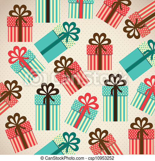 pattern of gift boxes - csp10953252