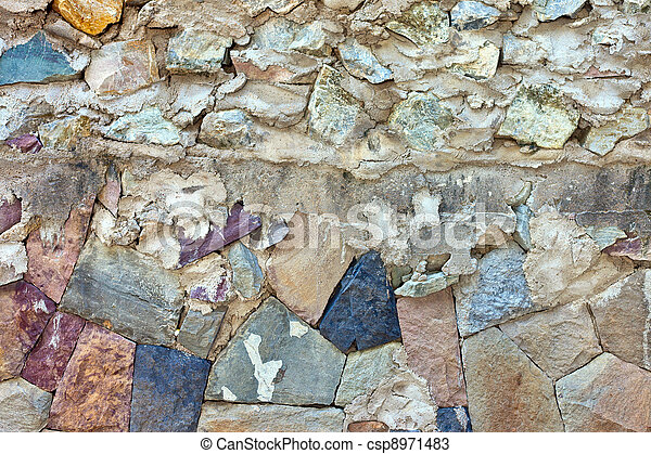 Pattern of old stone Wall Surfaced - csp8971483