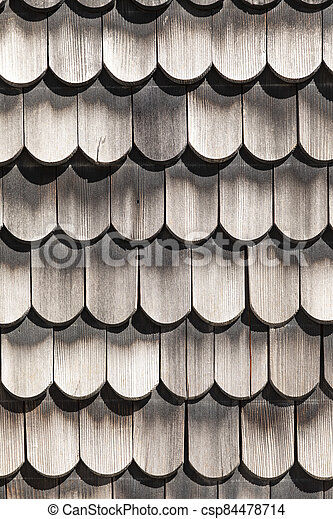 pattern of weathered wooden shingles - csp84478714