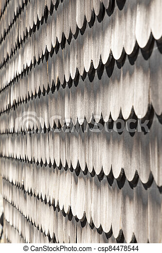 pattern of weathered wooden shingles - csp84478544