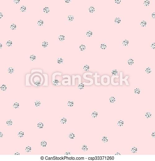pattern., polka, seamless, shimmer, schitteren, zilver, punt - csp33371260