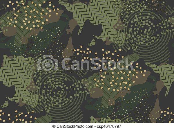 pattern., seamless, camouflage - csp46470797