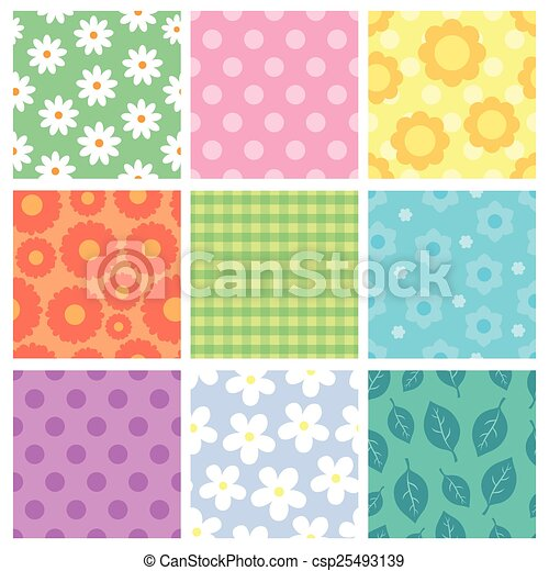 Pattern theme collection 1 - csp25493139