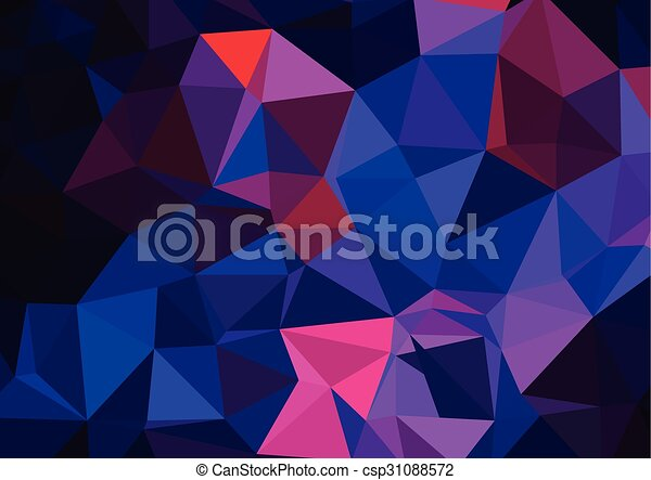 pattern, triangles background, polygonal - csp31088572