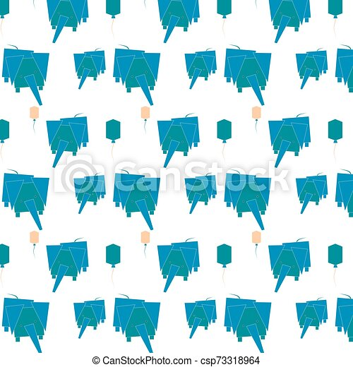 pattern with abstract elephants. vector illustration - csp73318964