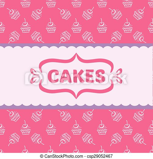 Pattern With Cakes And Cupcakes Pinkpattern For Wallpaper Texture Paper Web Design Wrapping Packaging