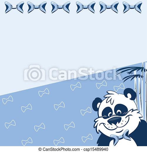 Pattern with cartoon panda - csp15489940