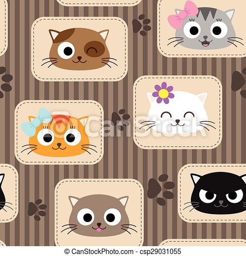 Pattern with cats - csp29031055