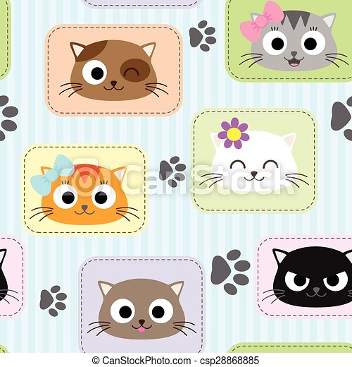 Pattern with cats - csp28868885