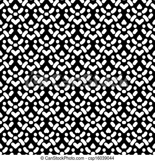 Simple seamless pattern with damask motifs in black and ...