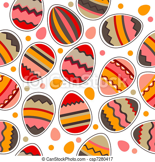 Pattern with easter eggs - csp7280417