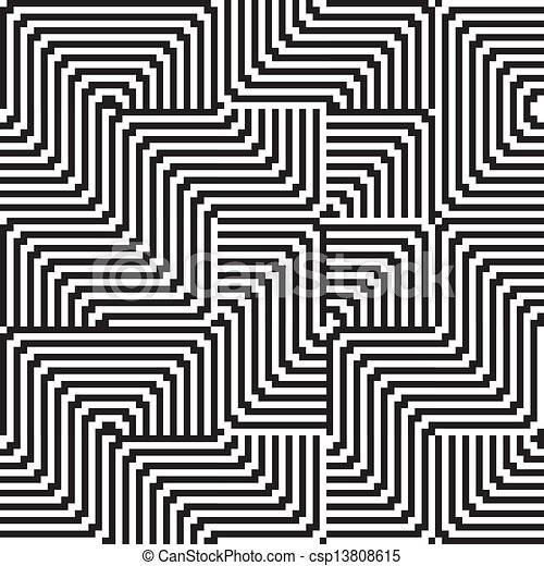Pattern with line black and white in zigzag csp13808615