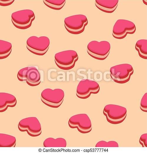 pattern with macarons - csp53777744