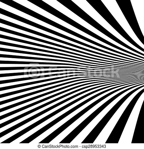 Pattern with optical illusion. Black and white background.  - csp28953343