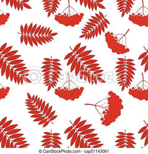 pattern with rowans - csp51143061