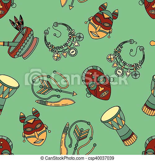 Pattern with voodoo vector symbols