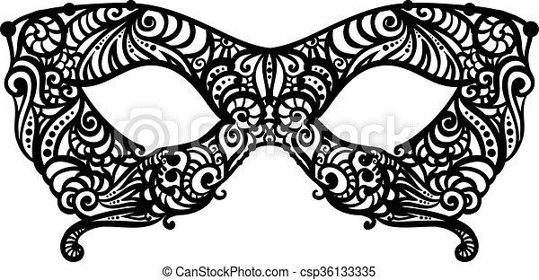 patterned masquerade mask monochrome vector masquerade mask