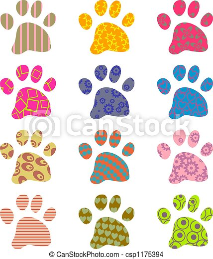 Patterned Paws Artistic Abstract Paw Wallpaper Background