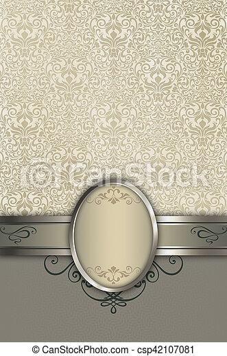 patterns., decoratief, achtergrond, frame, elegant - csp42107081