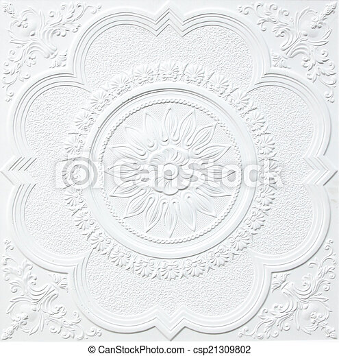 Patterns on the ceiling gypsum sheets - csp21309802