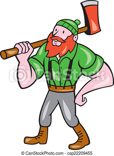 paul bunyan lumberjack isolated cartoon illustration of a rh canstockphoto com