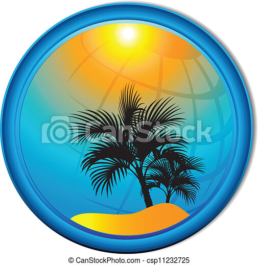 paume, butto, fond, arbres, tourisme - csp11232725