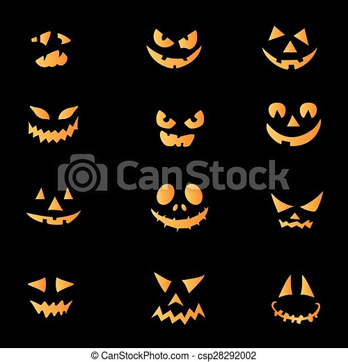 Facce Zucche Di Halloween.Pauroso Facce Halloween Zucca
