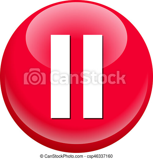 Pause Button - csp46337160