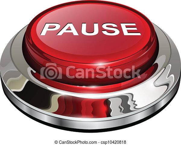 Pause button - csp10420818
