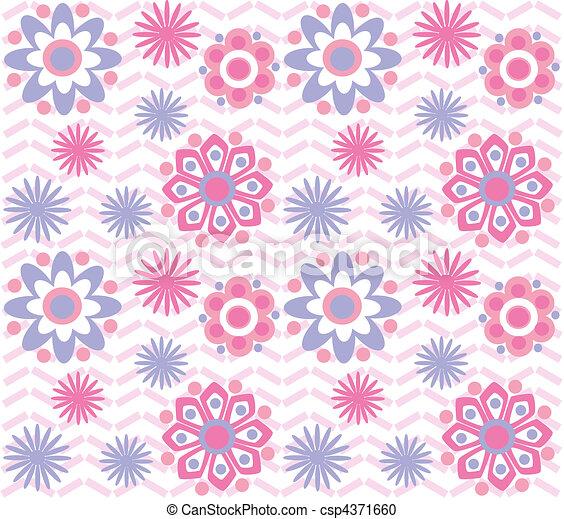Patrón de flores - csp4371660