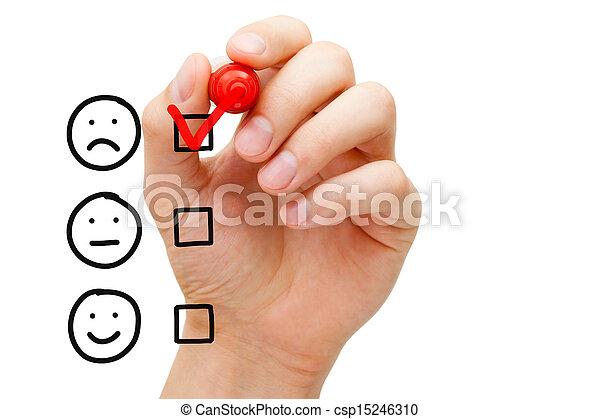 pauvre, client, évaluation, service - csp15246310
