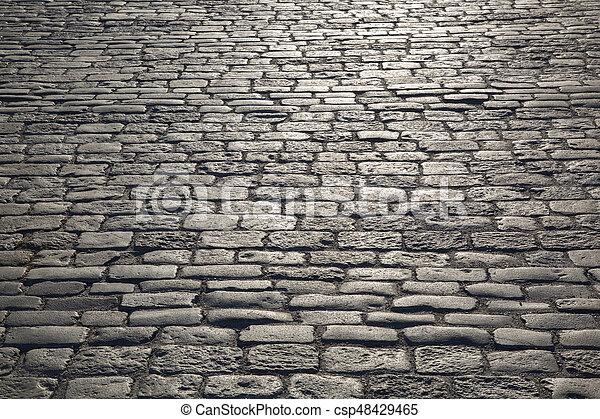 pavé, trottoir, rue, stockholm - csp48429465