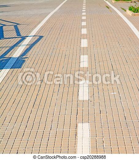 paved lane close up - csp20288988