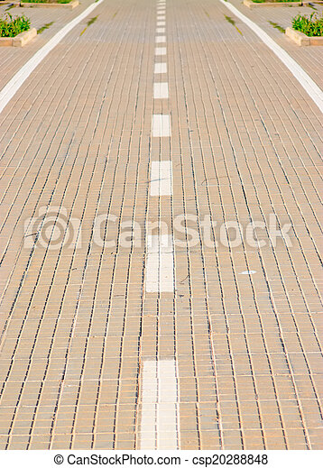 paved lane close up - csp20288848
