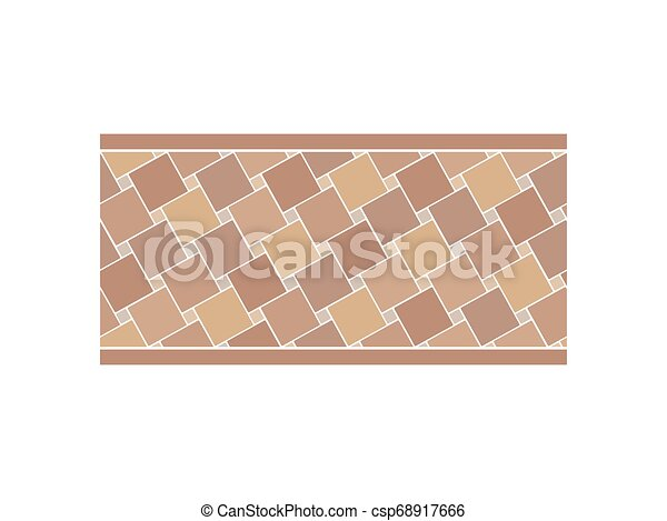 Pavement from the tile. View from above. Vector illustration. - csp68917666