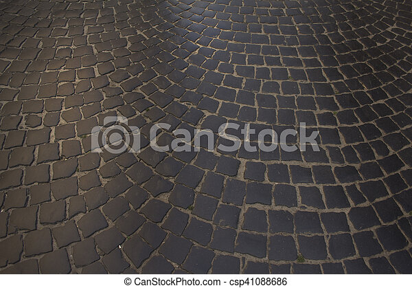 pavement of paving in Lviv - csp41088686