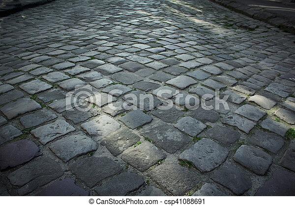 pavement of stone in Lviv - csp41088691