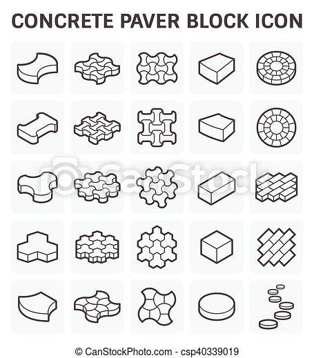 El icono del bloque Paver - csp40339019